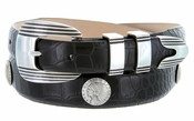 Men's Indian Head Coin Conchos Italian Calfskin Leather Belt $39.50