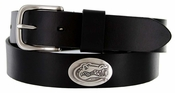 3603500 Men's Collegiate University Leather Overlay Concho Black Belt - Florida