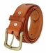 Men's Eagle Embossed Braided Genuine Leather Casual Jean Belt - Tan3