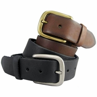 "Men's Full Grain Leather Casual Jean Belt 1-1/2"" Wide"