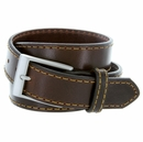 """Men's Full Leather Casual Jean Belt 1-3/8"""" (35mm) Wide Made in USA"""