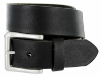 "Men's Genuine Leather Casual Jean Belt 1-1/2"" Wide - Black  $17.95"