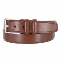 "Men's Genuine Leather Casual Dress Belt 1-3/8"" (35mm) wide - Brown"