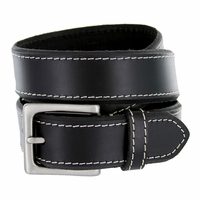 "Deal of Today $10.00 Men's Genuine Leather Dress Belt 1-3/8"" Wide - Black"