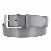 "Men's Genuine Leather Dress Casual Belt 1-1/2"" (38mm) wide with Nickel Plated Buckle - Gray"