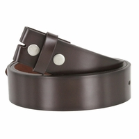 "Men's Genuine Leather Dress Casual Belt Strap 1-1/2"" (38mm) wide - Brown"