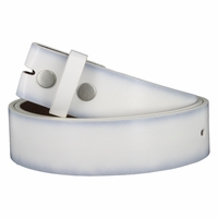 "Men's Genuine Leather Dress Casual Belt Strap 1-1/2"" (38mm) wide - White"