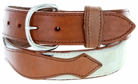 Men's Hair On Genuine Leather Casual Jean Belt - Brown
