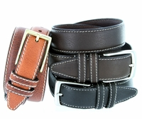 Men's 100% American Bison Leather Belts