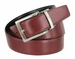 "Men's Reversible Genuine Leather Dress Casual Belt 1-3/8"" (35mm) wide - Black/Burgundy1"