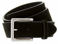 Men's Suede Leather Casual Jean Belts - Black