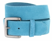 Men's Suede Leather Casual Jean Belts - Blue