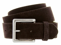 Men's Suede Leather Casual Jean Belts - Brown