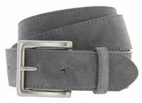 Men's Suede Leather Casual Jean Belts - Gray
