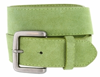 Men's Suede Leather Casual Jean Belts - Green