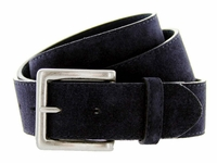 Men's Suede Leather Casual Jean Belts - Navy