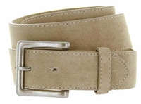Men's Suede Leather Casual Jean Belts - Tan
