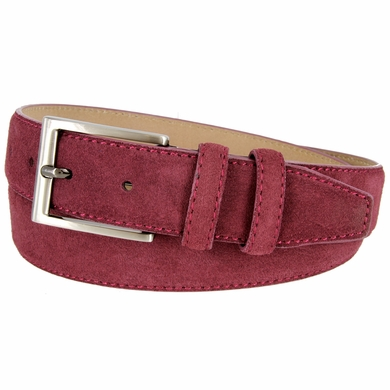 s suede leather dress belt 1 3 8 quot wide burgundy
