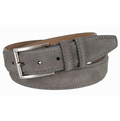 s suede leather dress belt 1 3 8 quot wide gray