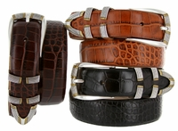 Menlo Men's Italian Calfskin dress belt $32.50