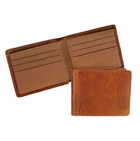 Mesa 104 Iowa Saddle Lejon Bison Leather Wallet Made In USA