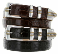 Milan Italian leather Men's Designer Belt $32.50