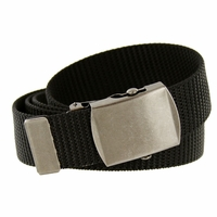 Military Army Canvas Web Belt 1.25 inch - Black