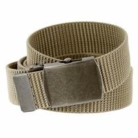 Military Arm Canvas Web Belt 1.25 inch - Khaki