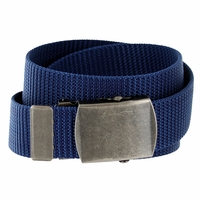 Military Army Canvas Web Belt 1.25 inch - Navy