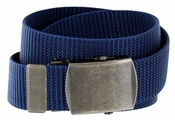 Military Arm Canvas Web Belt 1.25 inch - Navy