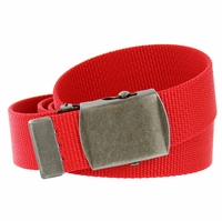 Military Army Canvas Web Belt 1.25 inch - Red
