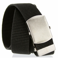 Military Army Canvas Web Belt 1.5 inch - Black