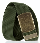Military Army Canvas Web Belt 1.5 inch - Olive