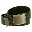 Military Army Canvas Web Belt 1.25 inch - Olive