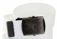 Military Army Canvas Web Belt 1.25 inch - White
