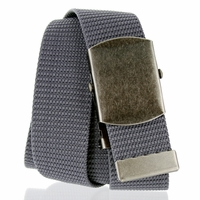 Military Army Canvas Web Belt 1.5 inch - Gray