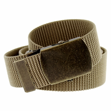 Military Army Canvas Web Belt 1. 5 inch - Khaki
