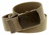 Military Army Canvas Web Belt 1.5 inch - Khaki