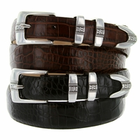 Miller Men's Italian Leather Designer Dress Belt