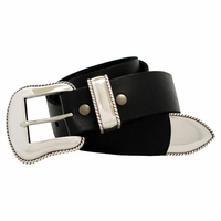 "Mountain Ridge Men's Western Full Grain Leather Belt 1 1/2"" Wide"