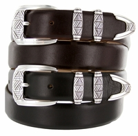 Napa Men's Designer Leather Dress Belt