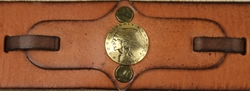 Native American and Bird Coin Concho Leather Belt