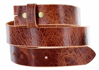 "Nature Brown Vintage Full Leather Belt Strap 1-1/2"" Wide"