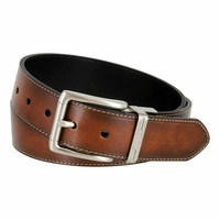 Nautica Men's Leather Edge-stitched Reversible Belt - Brown/Black