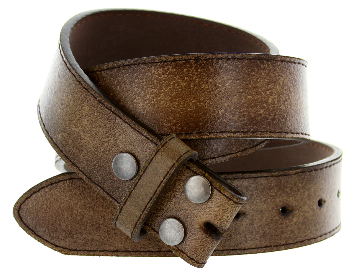 bs57 distressed leather belt 1 1 2 quot wide brown