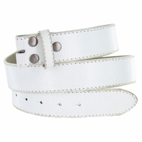 """NC57 White Distressed Leather Belt Strap 1 1/2"""" Wide"""
