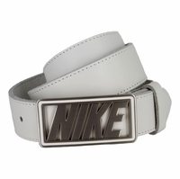 Nike Cutout Buckle with White Genuine Leather Golf Belt