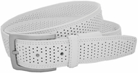 Nike G-Flex White Perforated Tour Performance Leather Belt DS1200304