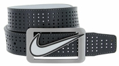Nike Golf Belt Square Cutout Reversible Performance Leather Belt 11205156 Grey/White