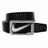 Nike Golf Belt Square Cutout Reversible Performance Leather Belt 1120525 Black/White